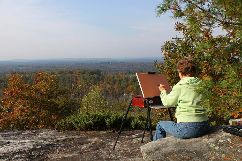 Plein Air Painting in Maine - Brush Cleaner for Painters and Other Painting Tips from The Brush Butler